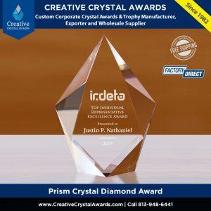 personalized crystal diamond award diamond crystal award