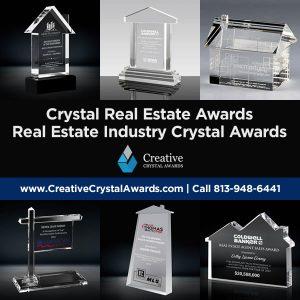 real estate industry crystal awards crystal real estate awards crystal real estate trophy