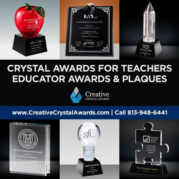 teacher awards custom crystal awards for teacher teaching awards