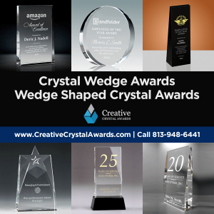 wedge shaped crystal awards crystal wedge awards