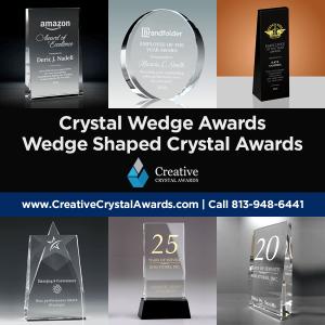 wedge shaped crystal awards crystal wedge awards
