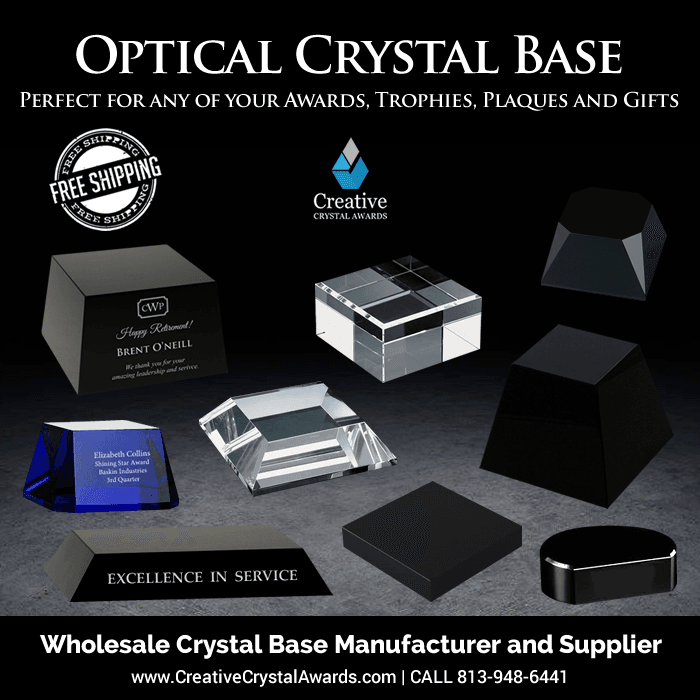 wholesale crystal base for awards and trophies