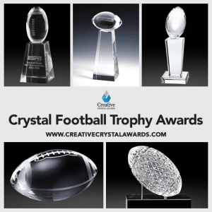 wholesale crystal football trophy awards