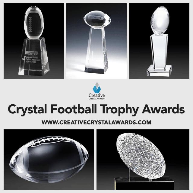 Wholesale Crystal Football Trophy Awards