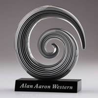 art glass swirl sculpture award