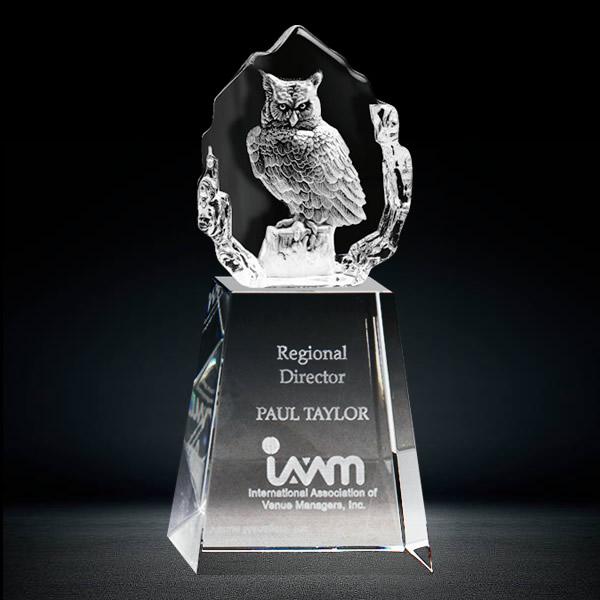 3D Iceberg Crystal Owl Award