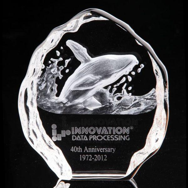 3D Crystal Iceberg Whale Award