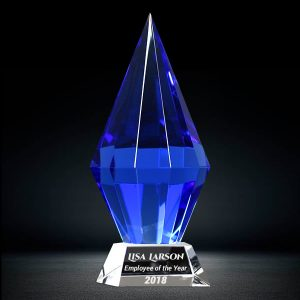 starphire diamond trophy award