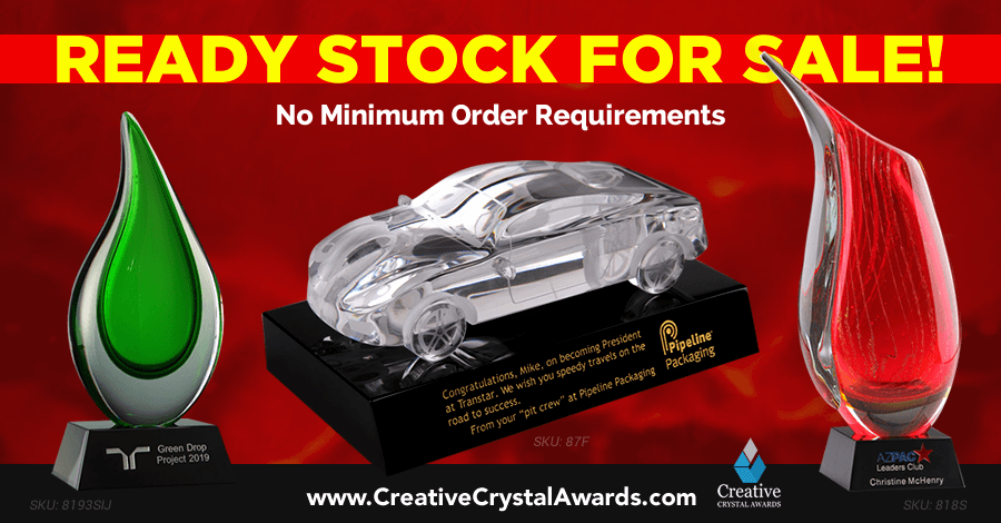 Stunning Crystal Awards for Outstanding Employees