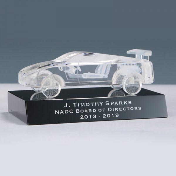 3d crystal car award