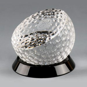 Optical Crystal Golf Ball Award