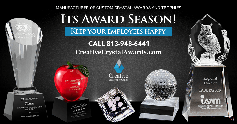 17 Types of Crystal Award Ideas that Work Best for any Recognition Award Program