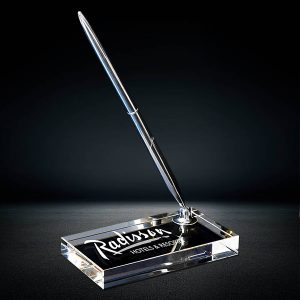 crystal pen stand corporate crystal gift