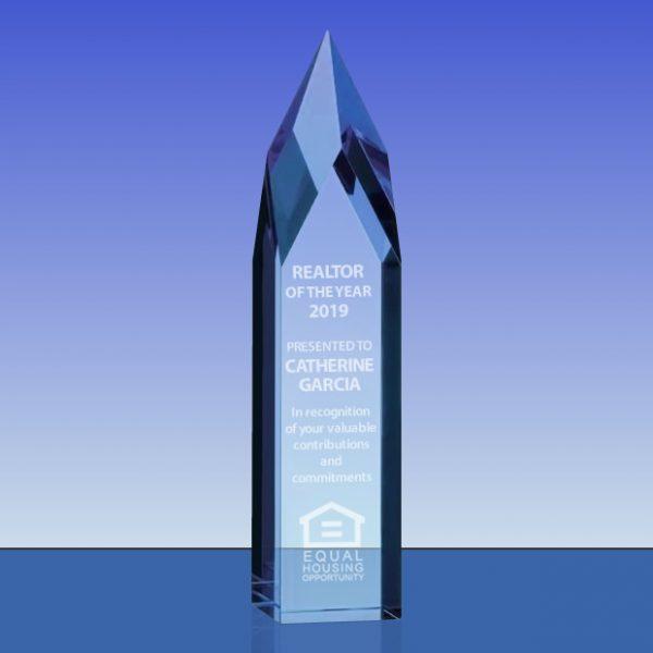 Blue Crystal Ice Pillar Award