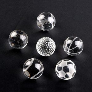 Crystal Sport Ball Paperweight
