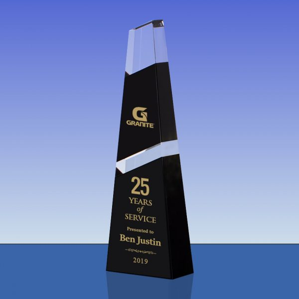 Black and Clear Crystal Peak Tower Award