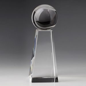 Crystal Tennis Ball Trophy Award