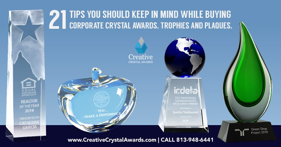 21 Tips You Should Keep in Mind While Buying Corporate Crystal Awards & Trophies