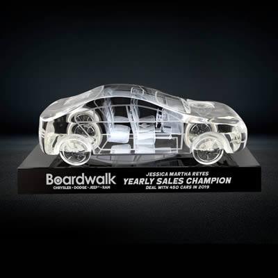 3d crystal car model