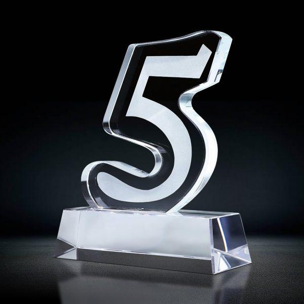 Crystal 5 Years Service Award