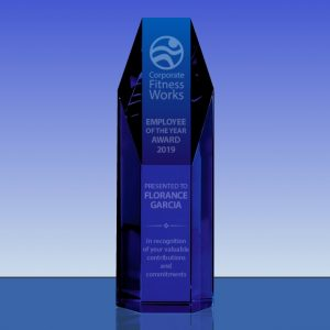 Blue Crystal Hexagon Tower Award