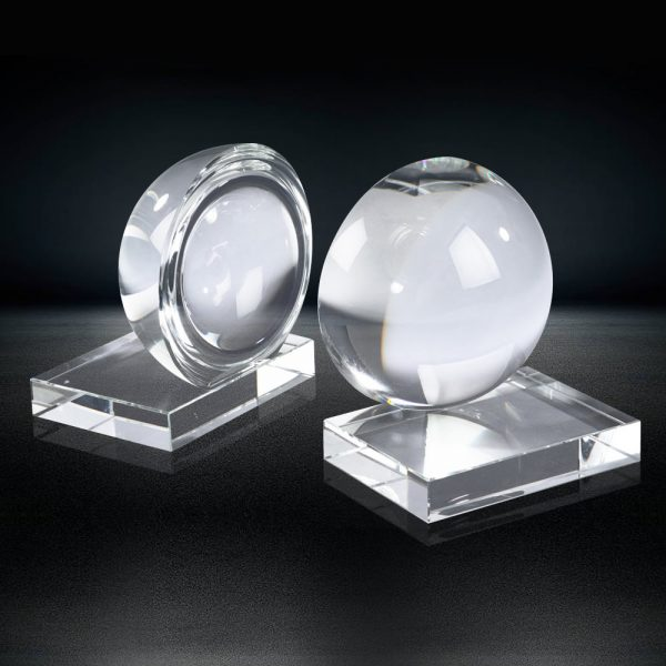 Clear Crystal Ball Bookends