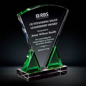 Green Crystal Plaque Award