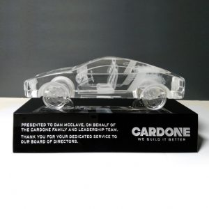 Personalized Crystal Car Model Award