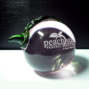 crystal peach award