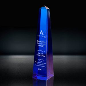 Blue Crystal Obelisk Award