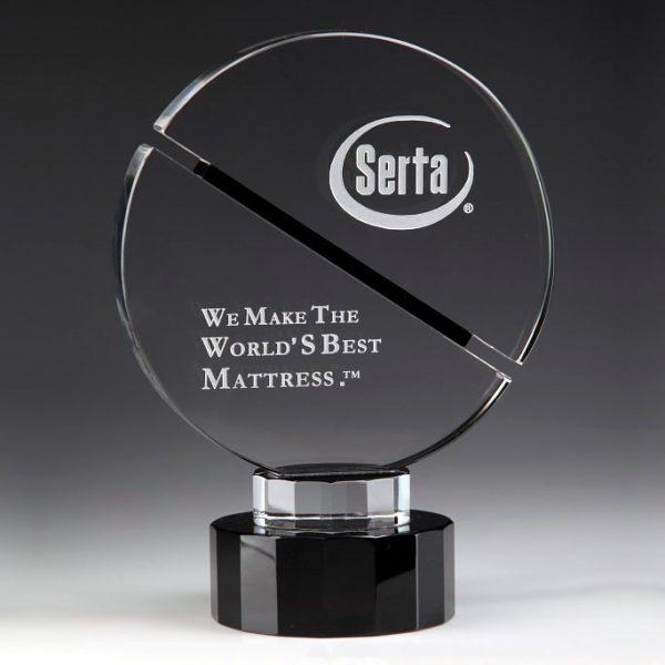 crystal circle trophy award