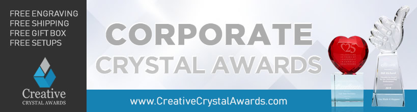corporate crystal awards