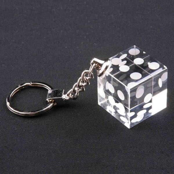 crystal dice keychain promotional gift