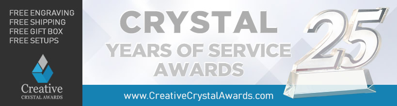 crystal years of service awards