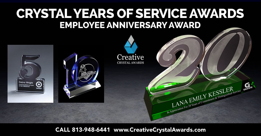 6 Amazing Crystal Years of Service Awards