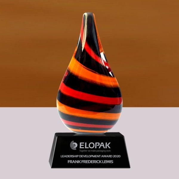 Teardrop Art Glass Award