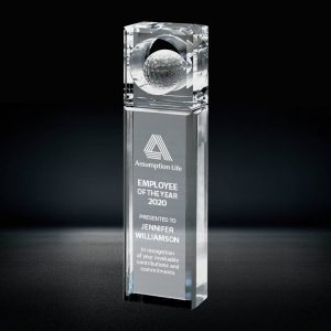 crystal golf ball tower award