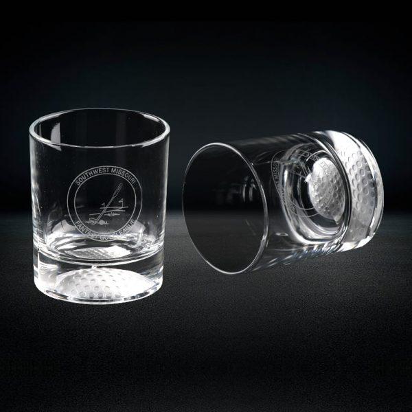 crystal golf whiskey glasses