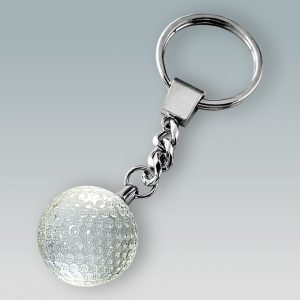 crystal golf ball keychain