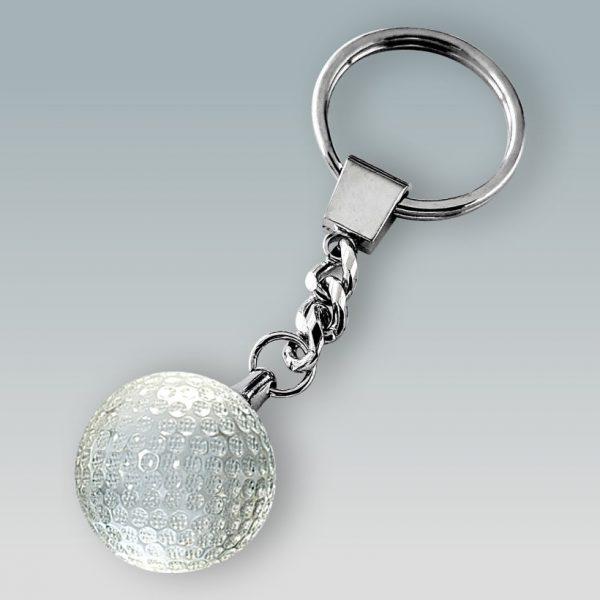 crystal golf ball keychain