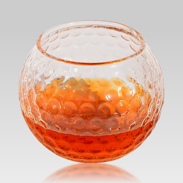 golf ball shaped crystal whiskey glass