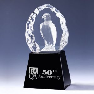 3d crystal falcon award
