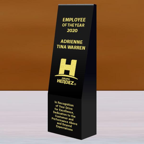black crystal wedge tower trophy