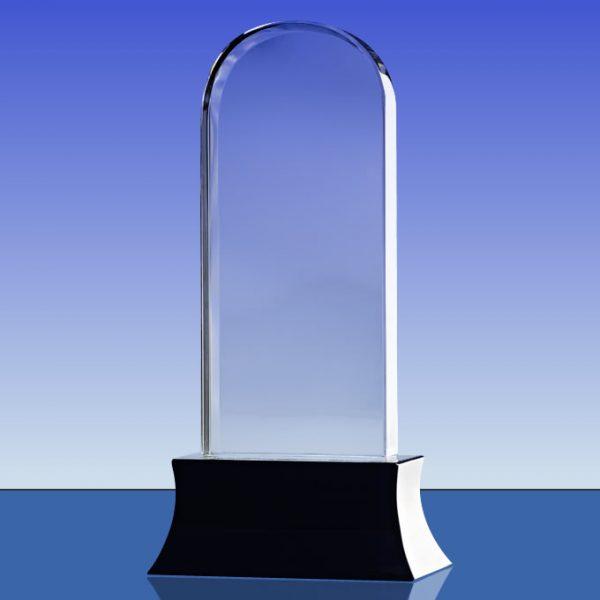 blank crystal arch trophy