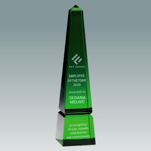 green crystal obelisk award