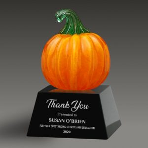 art glass pumpkin award