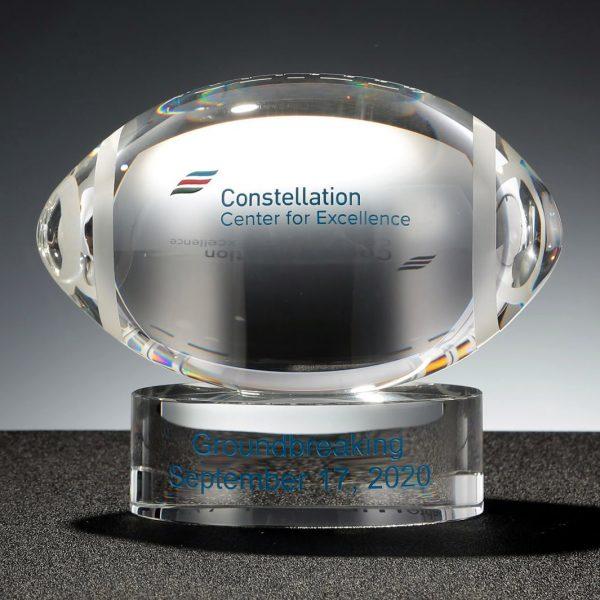 crystal football award