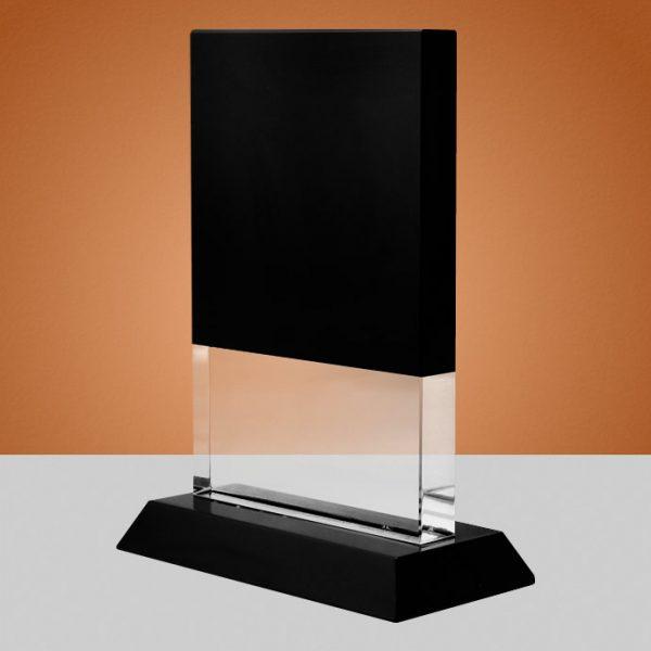 blank crystal rectangle plaque award