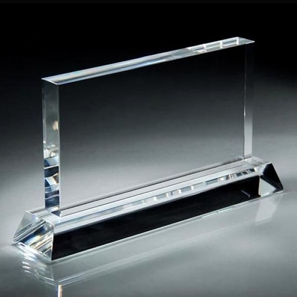 blank clear crystal rectangle award