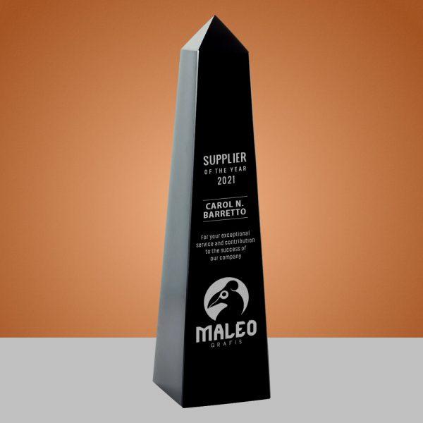 black crystal obelisk award